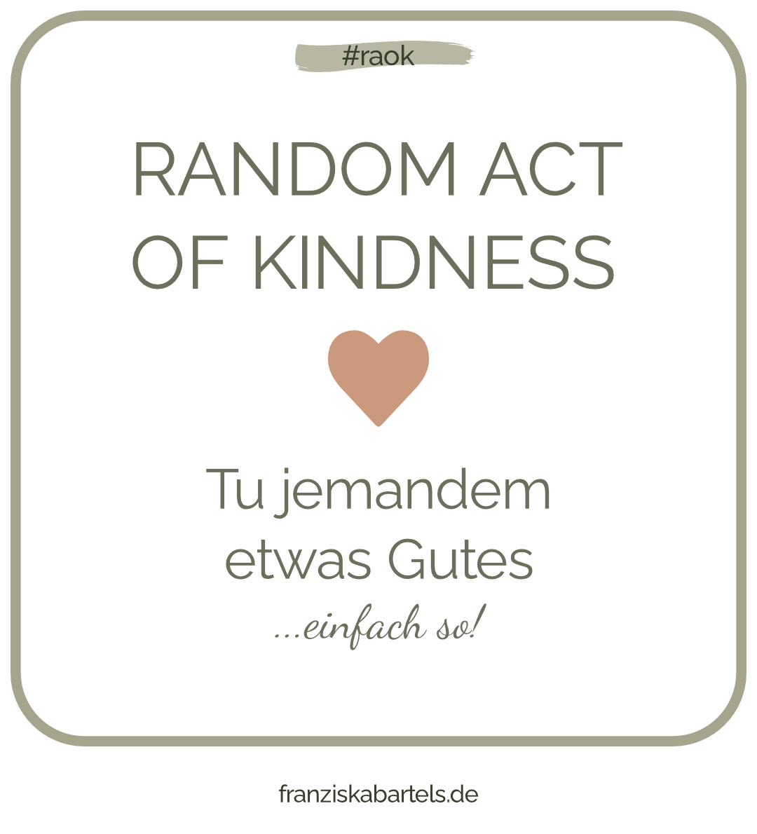 Random Act of Kindness